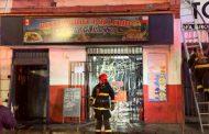Incendio quemó tres locales en las cercanías del terminal Alameda