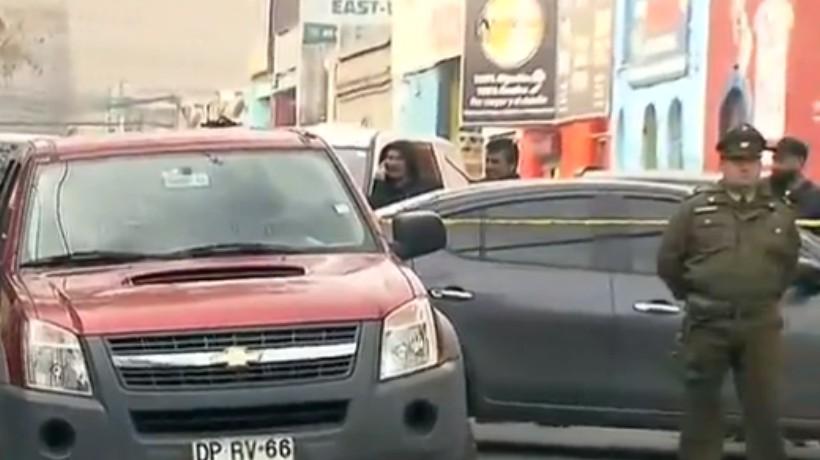 Balacera en Estación Central terminó con un asaltante fallecido tras ser abatido por la policía