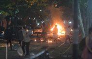 Barricadas y disturbios en Santiago tras manifestación por muerte de comunero