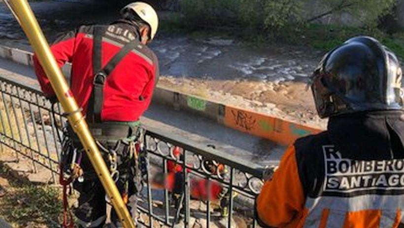 Encontraron cuerpo de un hombre en el río Mapocho
