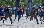 Incidentes entre manifestantes y Fuerzas Especiales se registran nuevamente en Plaza Italia