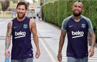 "Messi publica emotivo mensaje tras partida de Vidal: ""El vestuario te va a extrañar"""