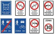 Debutan 16 señaléticas ideadas para armonizar el tránsito de autos, bicicletas y motos en la ciudad